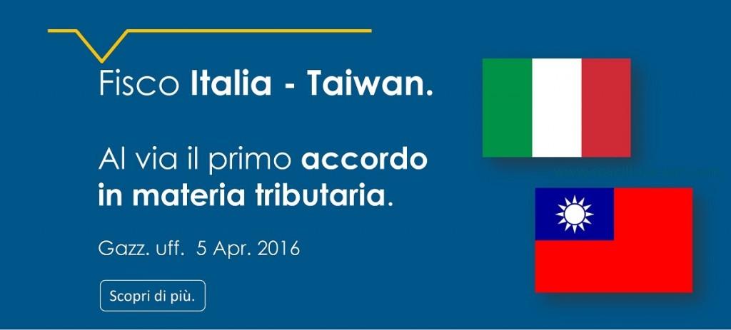 Italia Taiwan accordo doppia imposizione Covelli studio legale Raffaele